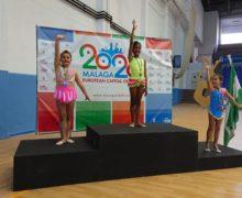 Medalla de oro en los juegos municipales de gimnasia rítmica del Ayuntamiento de Málaga