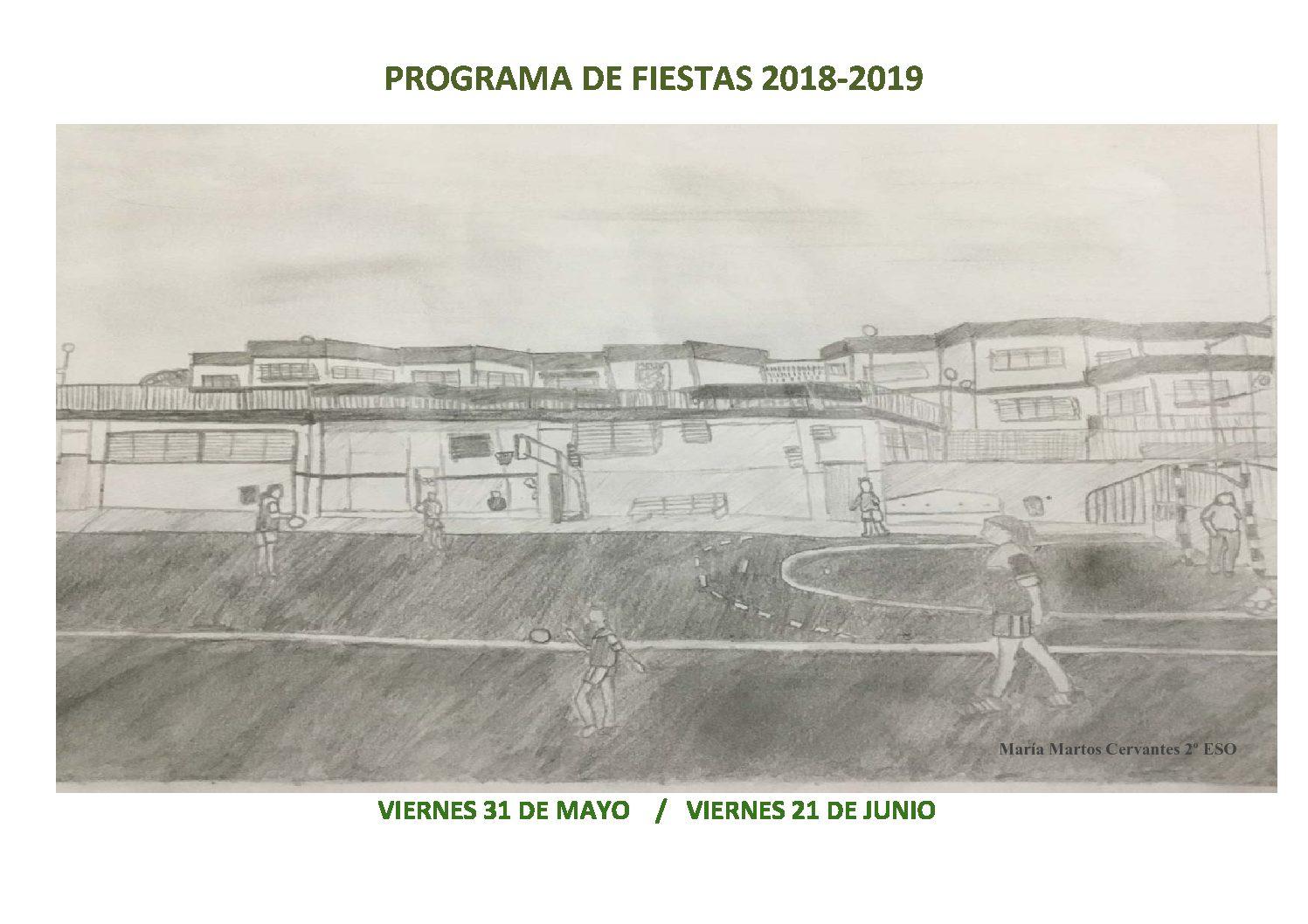 FIESTAS DE FIN DE CURSO   31 DE MAYO Y 21 DE JUNIO