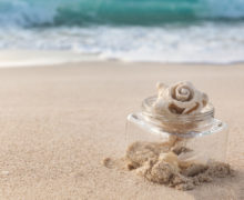 El mar en un frasco de vidrio
