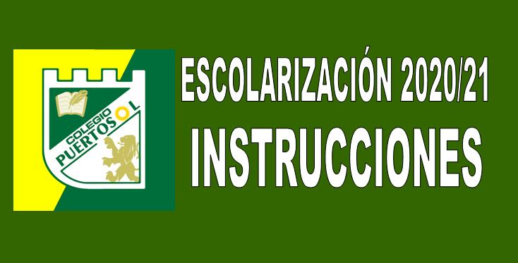 MATRICULACIÓN 2020/21. INSTRUCCIONES