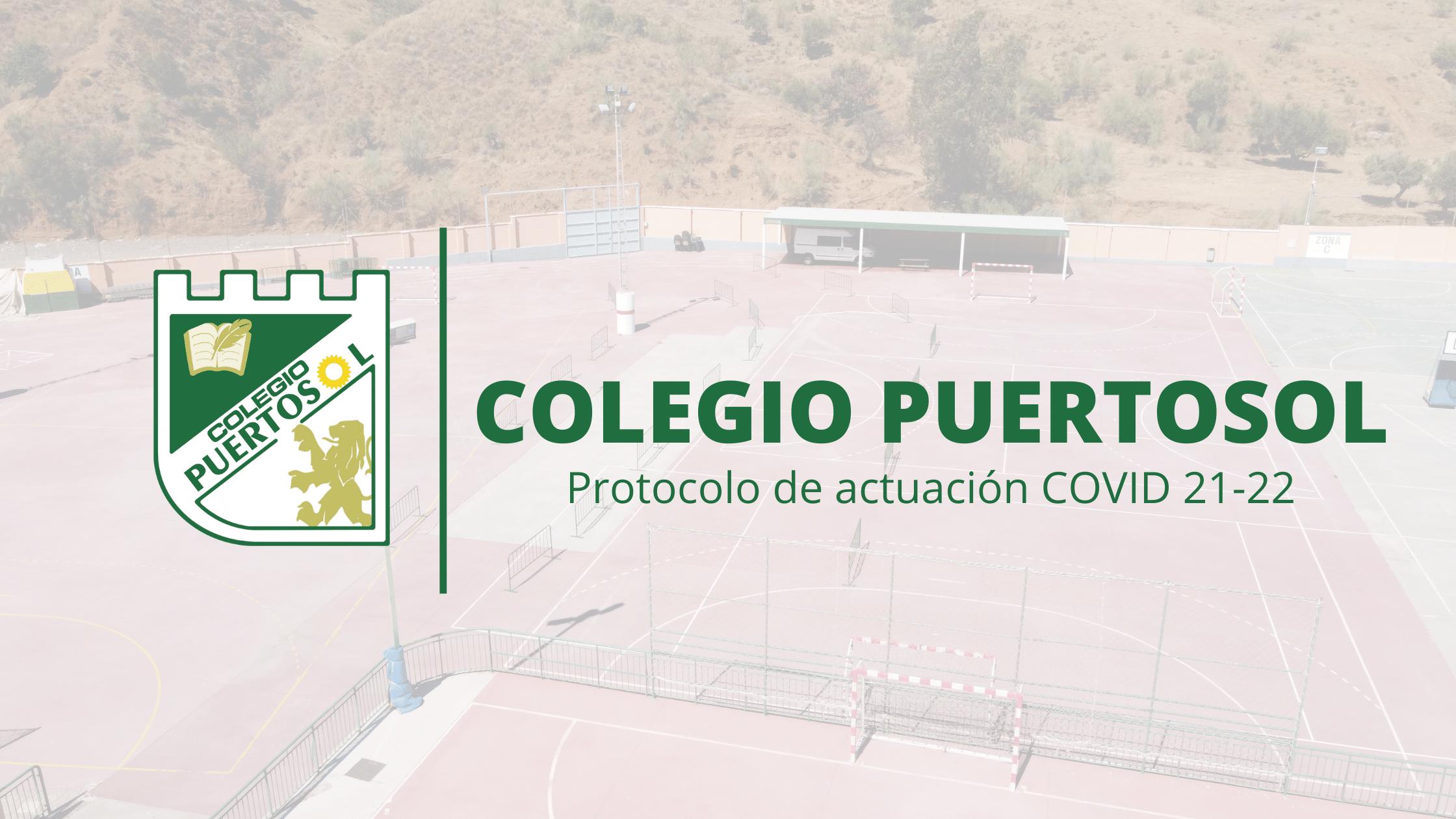 Protocolo de actuación COVID – Curso 21/22