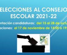 Elecciones de padres y madres al Consejo Escolar 2021-22.